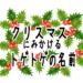 クリスマスによく見る葉っぱの名前トゲトゲ